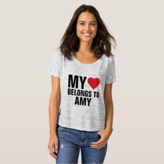 Camiseta Meu coração pertence ao Amy