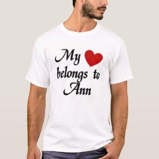 Camiseta Meu coração pertence ao ann