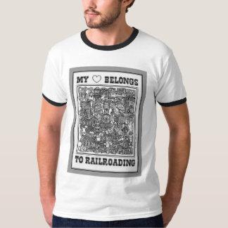 Camiseta Meu coração pertence ao t-shirt Railroading