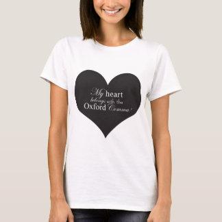 Camiseta Meu coração pertence com a vírgula de Oxford