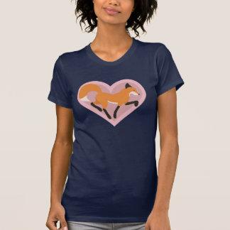 Camiseta Meu coração saltou um T das mulheres da batida