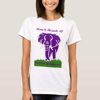 Camiseta Meu elefante roxo