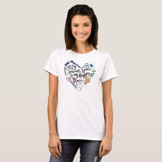 Camiseta Meu espaço Sewing--Camisa da luz de logotipo de