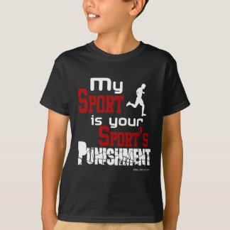 Camiseta Meu esporte é a punição do seu esporte - homem