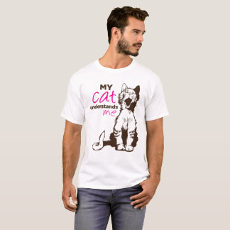 Camiseta Meu gato compreende-me MEN/WOMEN