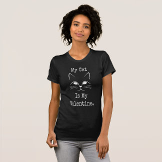 Camiseta Meu gato é meus namorados - o Tshirt preto dos