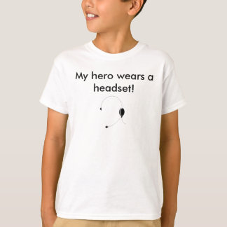 Camiseta Meu herói veste uns auriculares!