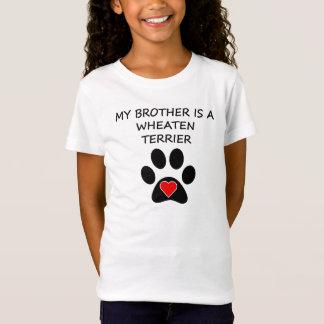 Camiseta Meu irmão é Terrier Wheaten