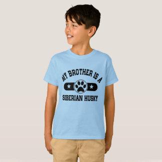 Camiseta Meu irmão é um rouco Siberian