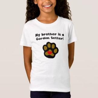 Camiseta Meu irmão é um setter de Gordon