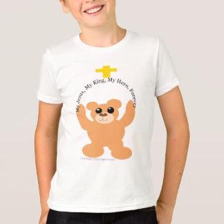 Camiseta Meu Jesus, meu rei, meu herói carrega para sempre