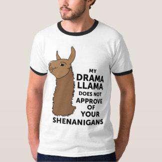 Camiseta Meu lama do drama não aprova seus Shenanigans