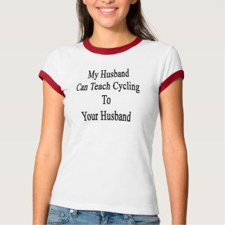 Camiseta Meu marido pode ensinar o ciclismo a seu marido