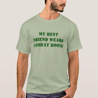 Camiseta Meu melhor amigo veste botas de combate