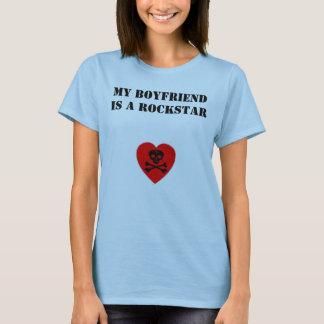 Camiseta Meu namorado é um Rockstar