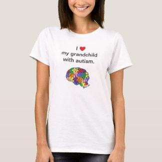 """Camiseta """"Meu neto com o t-shirt do autismo"""""""