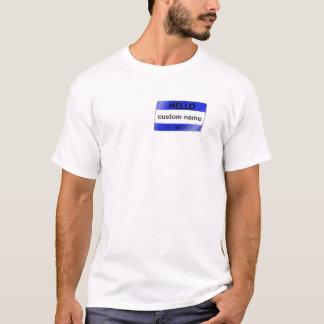 """Camiseta """"meu nome é"""" t-shirt do crachá conhecido"""