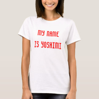 Camiseta Meu nome é Yoshimi