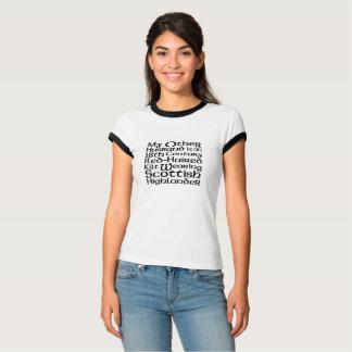 Camiseta Meu outro marido - escocês nenhum quadro