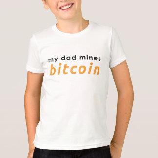 Camiseta meu pai mina o bitcoin