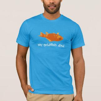 Camiseta Meu peixe dourado morreu
