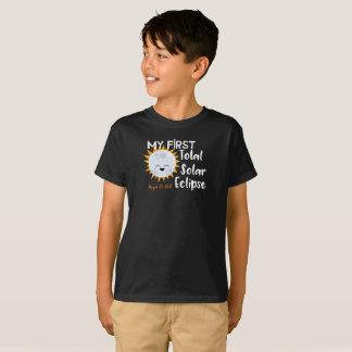Camiseta Meu primeiro T total do eclipse solar 2017