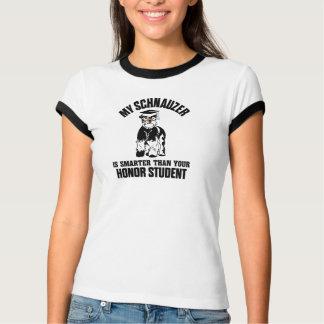 Camiseta Meu Schnauzer é mais esperto do que seu estudante
