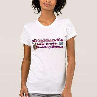 Camiseta Meu soldado vale o espera-Exército g/f