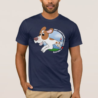 Camiseta Meu Spaniel de Brittany ama o t-shirt da