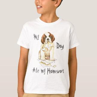 Camiseta Meu St Bernard comeu meus trabalhos de casa