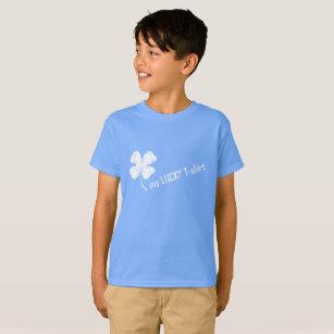 2abde817c4 Camiseta Meu t-shirt afortunado com trevo