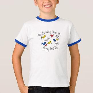 Camiseta Meu t-shirt superior acima seriamente crescido dos