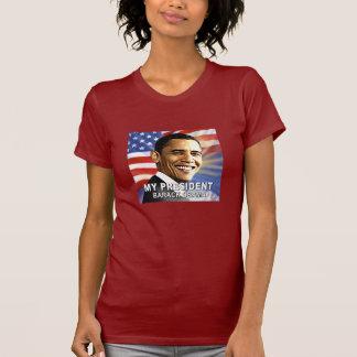 Camiseta Meu tshirt do presidente Barack Obama (bandeira)