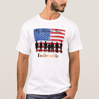 Camiseta Meu valor americano. Indivisível