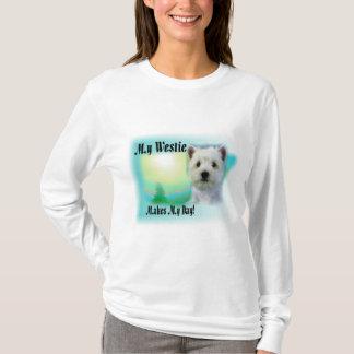 Camiseta Meu Westie faz meu dia