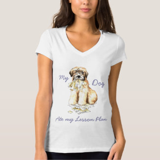 Camiseta Meu Wheaten comeu meu plano de aula