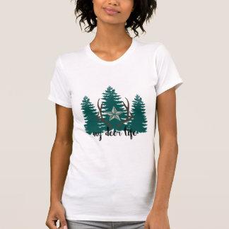 Camiseta Meus árvores e antlers da vida dos cervos