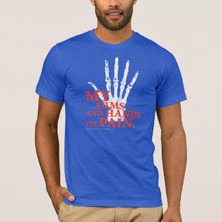Camiseta Meus braços e mãos sua dor