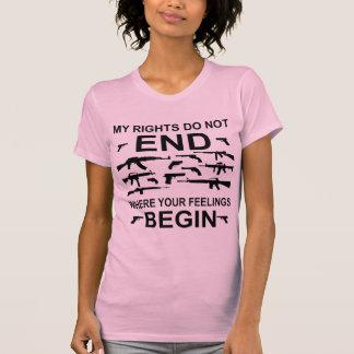 Camiseta Meus direitos não terminam onde seus sentimentos