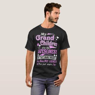 Camiseta Meus netos Awesomest meu T de Sayin dos genes
