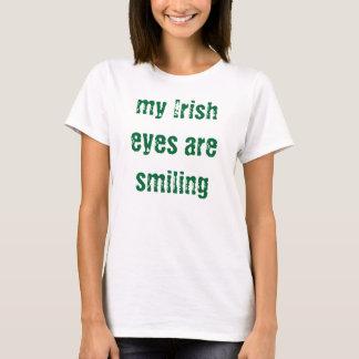 Camiseta meus olhos irlandeses estão sorrindo - t-shirt