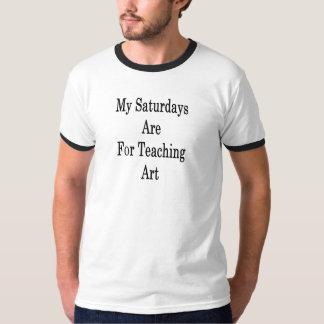 Camiseta Meus sábados são para a arte de ensino