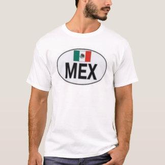 Camiseta Mexicano com bandeira