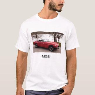 Camiseta MGB, carro de esportes, ingleses, 1976, vermelho