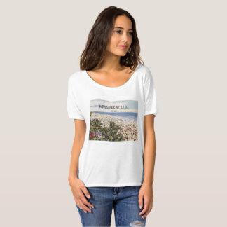 Camiseta Miami Beach, Florida, t-shirt do cartão do vintage