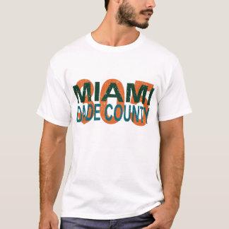 Camiseta miami, dade, 305, Florida, I-95, vício, praia,