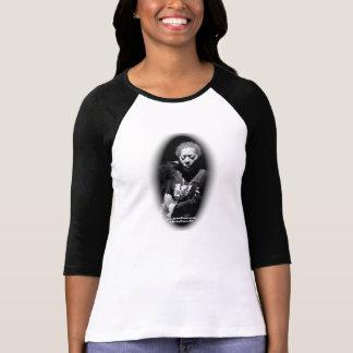 Camiseta Michael pôr o t-shirt longo da luva de B&W