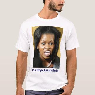 Camiseta Michelle Obama fala para fora