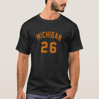 Camiseta Michigan 26 designs do aniversário