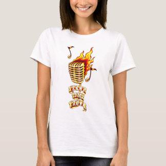 Camiseta Microfone do rock and roll